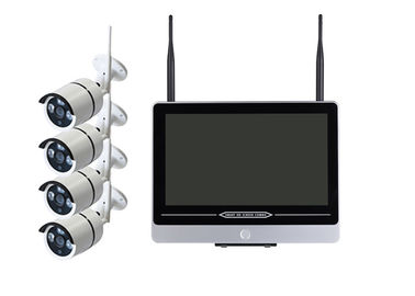 Waterproof 4 Channel Wireless Cctv System , 4 Camera Cctv Kit  2.4G Wireless NVR supplier