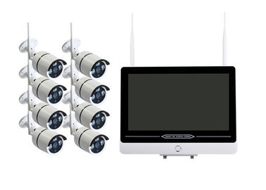 China 8 Channel Exterior WiFi CCTV Camera Kit With IR - CUT Double Filter Lens supplier