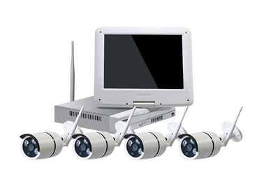 China 10 Inch LCD WiFi CCTV Camera Kit , IR Bullet 4 Camera Security System Max 4TB HDD supplier
