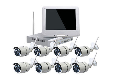 China Waterproof Wireless 8 Channel Cctv Kit With NVR For Industrial Buildings supplier