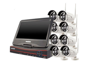 Waterproof Wireless 8 Channel Cctv Kit With NVR For Industrial Buildings supplier