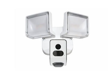 China Black And White Optional Wireless IP CCTV Surveillance Hidden AI Flood Light Wall Camera supplier