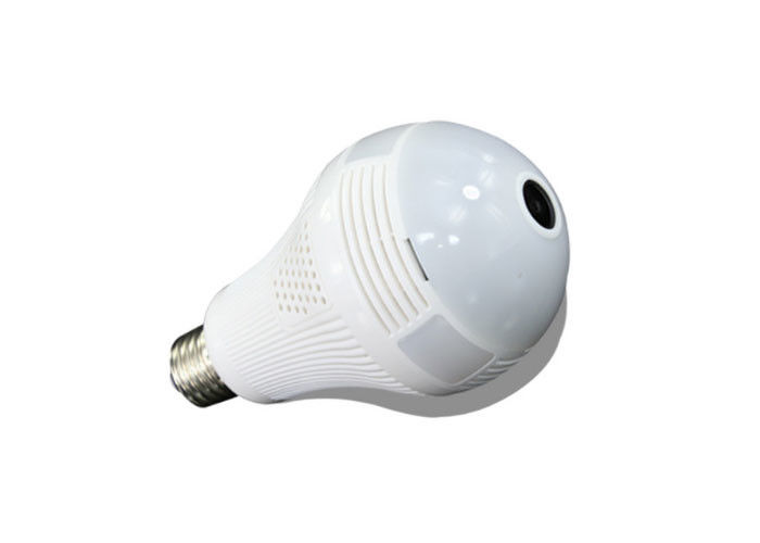 1080P Mini Hidden Bulb CCTV Camera 2MP , Fisheye Lens Security Camera 128G TF Card