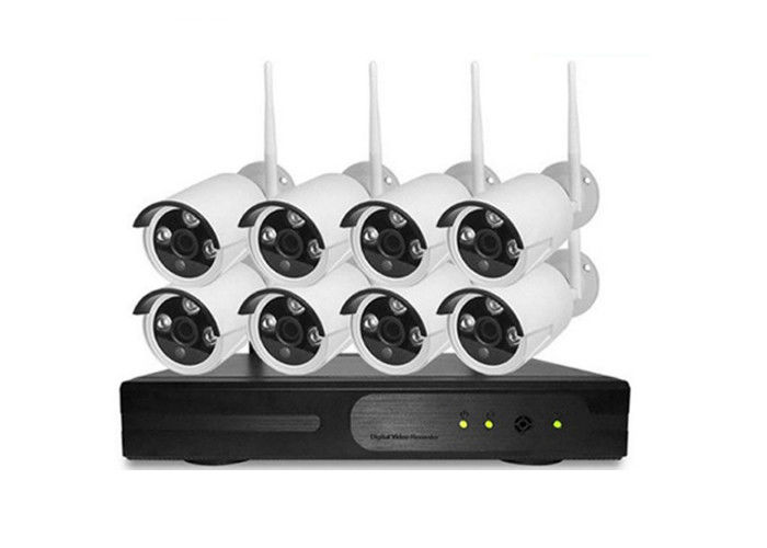 H.264 Outdoor CCTV System 8CH , 8CH Full HD Wifi NVR Kit Night Vision 3.6mm Lens