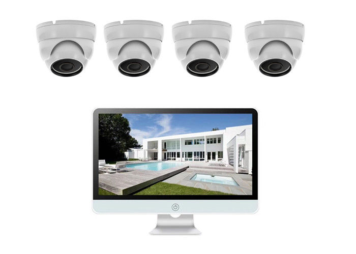 4 Channel 8MP Poe Home Security Camera System 1080P Strong Compatible Ability