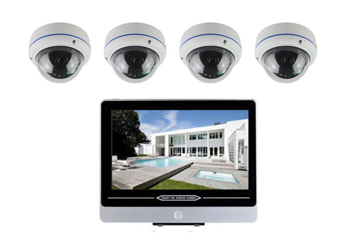 1080P PoE IP Camera Kit 4 Camera Poe Security System 12.5 Inch NVR Screen