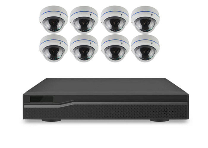 Metal 8 Channel Poe Security Camera System  Power and Video via One Cable