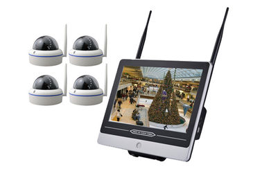 Metal Dome 4 Camera Security System With Dvr 12.5 Inch LCD Remote Viewing Real Time