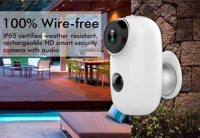 Night Vision Waterproof Wireless Doorbell Camera With Battery PIR Function