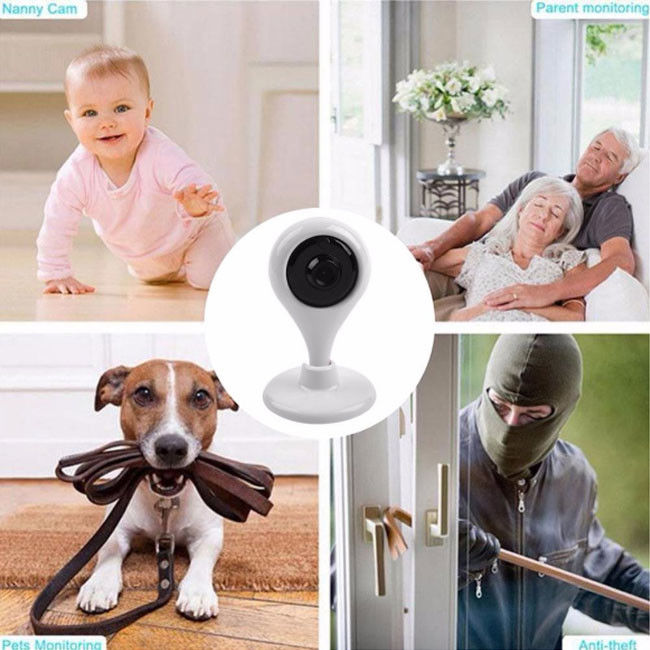 960P Smart Home WiFi Surveillance Camera 1.3MP Night Vision 360 Degree Lens