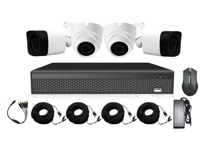 Tvi Cvi Full Hd 1080p Ahd Camera Kit  Combo With 4ch Real Time Embedded Linux Xvr